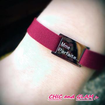 Bracelet tissu   me  parfaite  ZAG