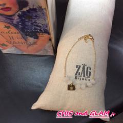 Bracelet adj perles ZAG