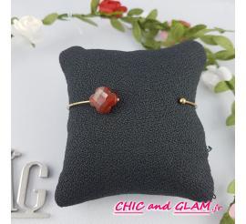 Bracelet  jonc fin pierre de couleur ZAG