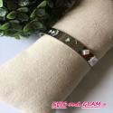 Bracelet jonc ouvert acier pierre