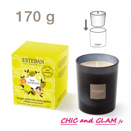 Bougie parfumée rechargeable  coll classique  Esteban