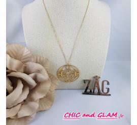 Collier adj arabesque horizontale ZAG