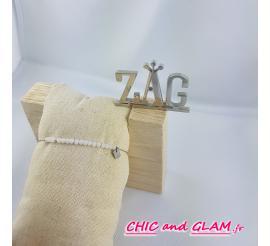 Bracelet a chaine et perles ZAG