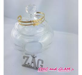 """Bracelet large """"Happy""""acier doré jaune Zag"""