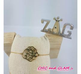 Bracelet a/adj arabesque ovale ZAG