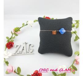 Bracelet adr chaine pierre trefle ZAG