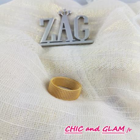 Bague large mailles serrées ZAG