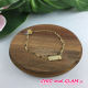 Bracelet adj 2 rgs chaines + plaque ZAG