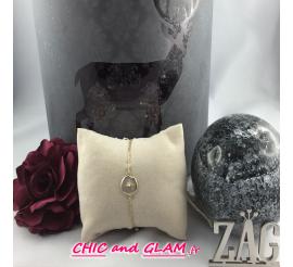 Bracelet chaine médaillon rose des vents ZAG