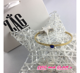 Bracelet adj /a  demi jonc perle ZAG