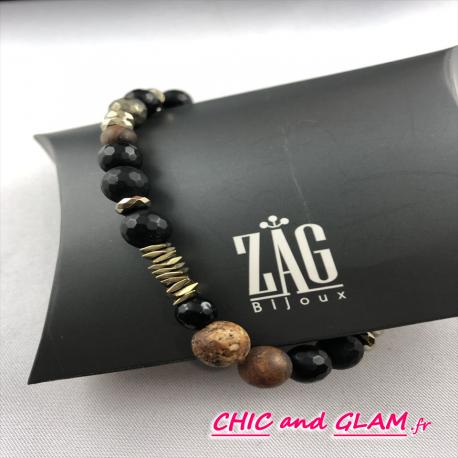Bracelet acier perles coll men ZAG
