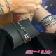 Bracelet 2 rgs multi matière coll men  ZAG