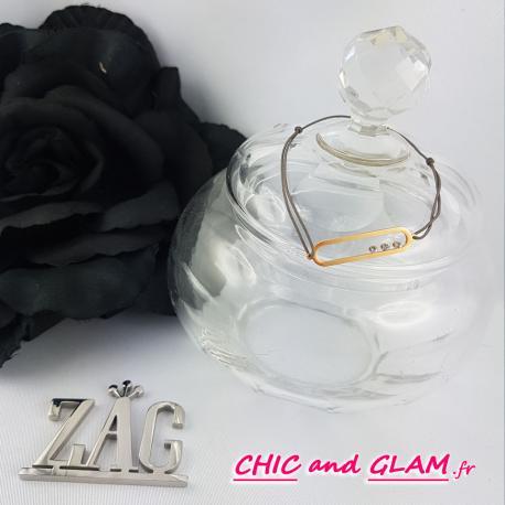 Bracelet cartouche +fil ZAG