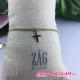 Bracelet chaine epaisse croix ZAG