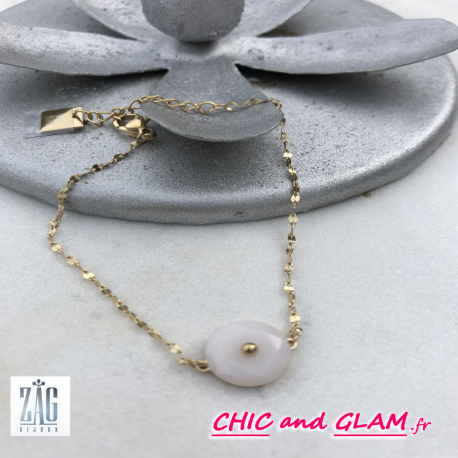Bracelet chaine pierre etoile Zag