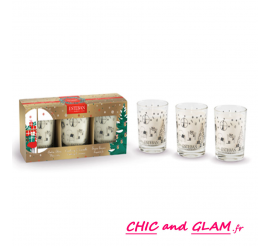 Coffret trio de mini bougies parfumées