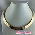Collier tork métal doré martelé