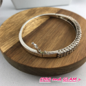 Bracelet métal 2 rgs strass