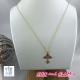 Collier a/adj chaine croix ZAG