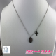Collier Madone  + croix  zag