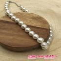 Collier ras de cou perles nacrées