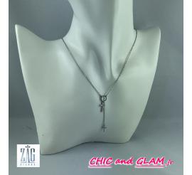 Collier chaine rond 2 croix ZAG