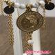 B.O adj  créoles perles blanche médaille helvetica