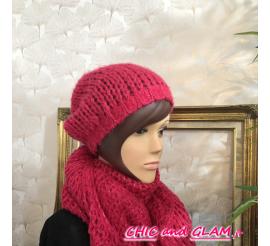 Bonnet laine fil lurex