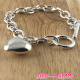 Bracelet  metal argt breloque coeur ZAG
