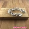 Bracelet chaine epaisse mét argent .  21cm