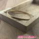 Bracelet jonc fin ciselé métal doré 7/0.3 cm
