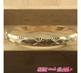Bracelet doré csculpté 75 / 0.6 cm