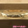 Bracelet doré sculpté 75 / 0.6 cm