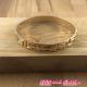 Jonc plat sculpté méral doré 6.5/1 cm