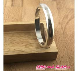 Bracelet jonc 65/65 mm métal argt