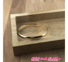 Bracelet jonc plat fin métal doré 6 /0.5 mm