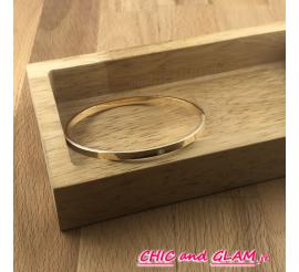 Jonc plat 65/3 mm metal doré