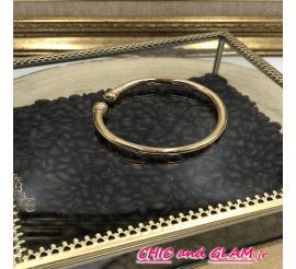 Bracelet jonc rond ouvert métal doré