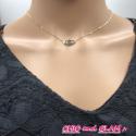 Collier acier/adj oeil turquoise ZAG