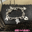 Bracelet breloque cadenas animaux métal argenté