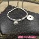 Bracelet  en argent(926) medaille coeur ZAG