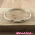 Jonc fin  métal argenté 60/3 mm