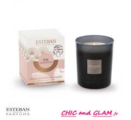 Bougie parfumée init rechargeable iris cachemire 170 gr Esteban