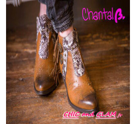 Boots dakota cuir lanière By Chantal b