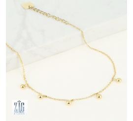 Bracelet cheville 5 perles Zag