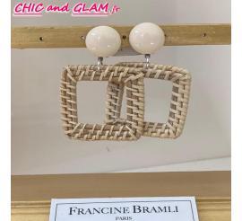 B.O créole carre rafia Francine Bramli