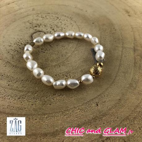 Bracelet perles Zag