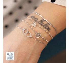 Bracelet menottes Zag